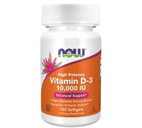 Now Vitamin D-3 10000 U.I. 120 Cápsulas