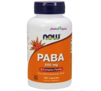PABA 500mg 100 CAPSULAS - NOW FOODS