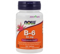 VITAMINA B6 50mg 100 COMPRIMIDOS - NOW FOODS