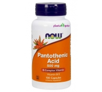 Pantothenic Acid 500 mg 100 cápsulas - NOW FOODS