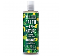 Shampoo de Limão & Tea Tree 400 ml - Faith in Nature